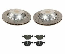 Genuine Rear Brake Kit Drilled Vented Disc Rotors And Pads For Bmw F85 F86 X5 X6 M