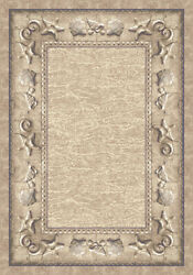 Milliken Ivory Contemporary Embossed Solid Area Rug Nautical Sand Castles Opal