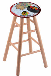 Holland Bar Stool Co. Oak Counter Stool In Natural Finish With Chicago Blackh...