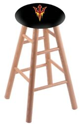Holland Bar Stool Co. Oak Counter Stool In Natural Finish With Arizona State ...
