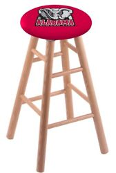 Holland Bar Stool Co. Oak Counter Stool In Natural Finish With Alabama Seat R...