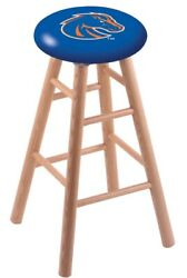 Holland Bar Stool Co. Oak Counter Stool In Natural Finish With Boise State Se...