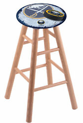 Holland Bar Stool Co. Oak Counter Stool In Natural Finish With Buffalo Sabres...