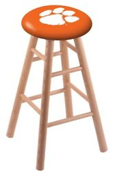 Holland Bar Stool Co. Oak Counter Stool In Natural Finish With Clemson Seat R...