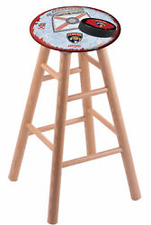 Holland Bar Stool Co. Oak Counter Stool In Natural Finish With Florida Panthe...