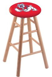 Holland Bar Stool Co. Oak Counter Stool In Natural Finish With Fresno State S...