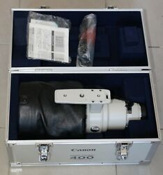 MINT CANON 400/2.8 L NON IS 400MM F2.8L ULTRASONIC AF LENS TRUNK RARE ON EBAY