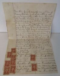 1896 Contract North Hebron Ny Cheese Factory 32 Signatures And Revenue Stamps G