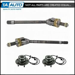 Front Axle Shaft And Wheel Hub And Bearing 4 Piece Kit Set For 00-01 Dodge Ram 1500