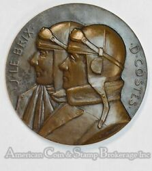 France 1927 68mm Bronze First Non Stop Flight South America To Paris Medal