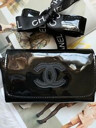 VIP Gift Black Quilted & Black CC Fanny Pack  Waist Belt Bum Bag.