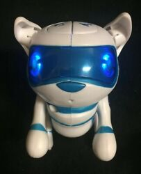 Preowned Tekno Puppy Robot Dogs Byprima Toys Blue/white Works Perfectly