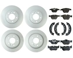 Genuine Front And Rear Brake Kit Disc Rotors Pads And Shoes For Bmw E90 E92 328i