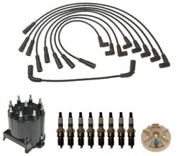 Acdelco Ignition Kit Distributor Rotor Cap Wire And Spark Plugs For Caddy Escalade