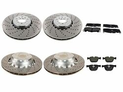 Genuine Front And Rear Brake Kit Drilled Disc Rotors Pads For Bmw F85 F86 X5 X6 M