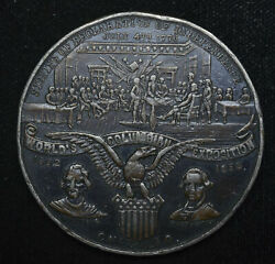 1892-1893 Worlds Columbian Exposition So Called Dollar Like Eglit63 Medal