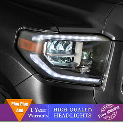 For Toyota Tundra Headlights Single Lens Beam Projector All Led Drl 2014-2020