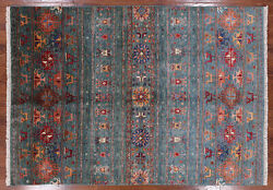 5' 6 X 7' 11 Tribal Gabbeh Hand Knotted Area Rug - Q3319