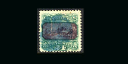 Us Stamp Used, Vf S120 blue Cancel