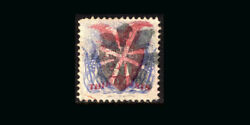 Us Stamp Used, Xf S121 Nice Bold Color, Red And Black Cancels