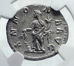 Severus Alexander Authentic Ancient 222ad Silver Roman Coin Annona Ngc I81600