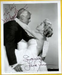 C-jeff Chandler/lana Turner Autograph Photo From Lady Takes A Flyer W/coa