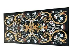 5and039x3and039 Marble Dining Table Top Multi Marquetry Fine Inlay Work Garden Decor E864c