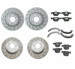 Genuine Front And Rear Brake Kit Disc Rotors Pads And Shoes For Bmw E82 1 Series M