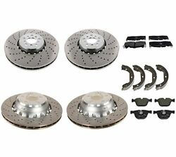Genuine Front And Rear Brake Kit Disc Rotors Pads And Shoes For Bmw F85 F86 X5 X6 M