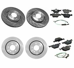 Genuine Front And Rear Brake Kit Disc Rotors Pads And Sensors For Bmw E46 M3 2005-06