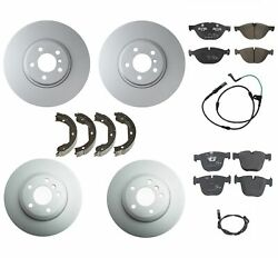Genuine Front And Rear Brake Kit Disc Rotors Pads Shoes And Sensors For Bmw E71 X6