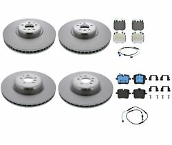 Genuine Front And Rear Brake Kit Disc Rotors Pads Sensors For Bmw G12 M760i Xdrive