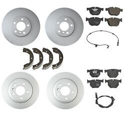 Genuine Front And Rear Brake Kit Disc Rotors Pads Shoes And Sensors For Bmw E70 X5