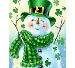 Diamond Painting Christmas Snowman And Lucky Charms Design Embroidery Decoration