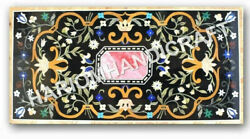 5and039x3and039 Marble Dining Table Top Precious Stones Marquetry Inlay Work Decors E976b