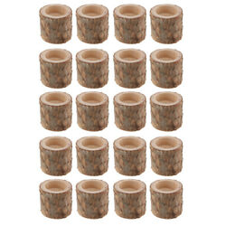20pc Rustic Tree Stump Candle Holder Tealight Holder for Wedding Party Decor