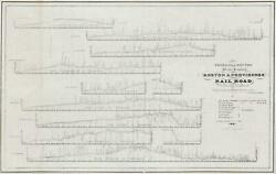 1831 Barney Map Of The Route Profiles For The Boston And Providence Railroad