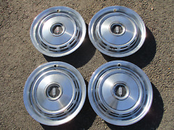 Factory 1968 Oldsmobile Cutlass Delta 88 15 Inch Hipo Hubcaps Wheel Covers