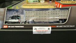Dcp34158 Black Wh Kw T660 Semi Cab Truck And Livestock Cattle Pot Trailer 164/pl