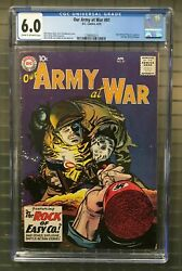 Our Army At War 81 Cgc 6.0 Dc 1959 Sgt. Rocky Of Easy Co Prototype K10 201 Cm