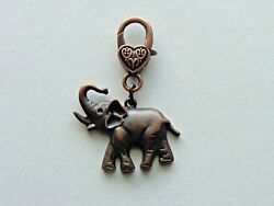 ELEPHANT GOOD LUCK KEYCHAIN CLIP FOR PURSE FOB BACKPACK BAG ZIPPER PULL