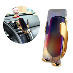 Qi Wireless Car Charger Phone Mount Holder Bracket Infrared Induction Locator 1x