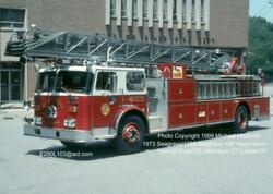 Turn Of River Fc Stamford Ct 1973 Seagrave 100and039 Rm Aerial Fire Apparatus Slide