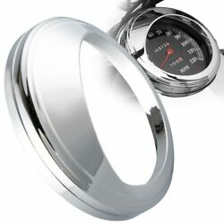 Chrome 5 Speedometer Gauge Cover For Harley And03999-and03905 Dyna Wide Glide Fxdwg