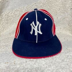 Yankee red white blue fitted EZ Fit baseball cap hat 21quot; circumference