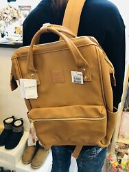 anello® Japan Synthetic Leather Mouthpiece Backpack Brown AT B1211 C $69.00