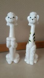 Antique Dog Figurines Marco Fine China Made In Japan 8 Tall