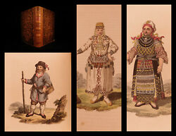 1810 Russia Costume Of Russian Empire Color Illustrated Clothing Travel Voyages