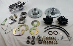 1964 1965 1966 Mustang Front Disc Brake Changeover With Chrome Booster Master