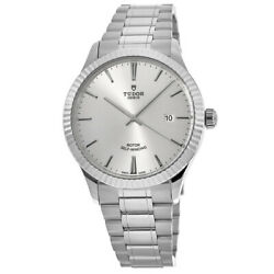New Tudor Style 41mm Silver Dial Stainless Steel Unisex Watch M12710-0001